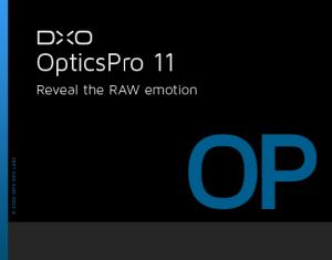 DxO Optics Pro 11汉化破解版【DxO Optics】中文破解版插图1